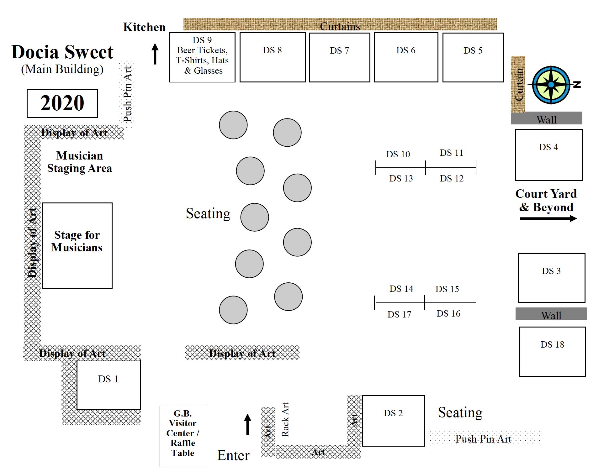Curry County Fairgrounds Docia Hall layout