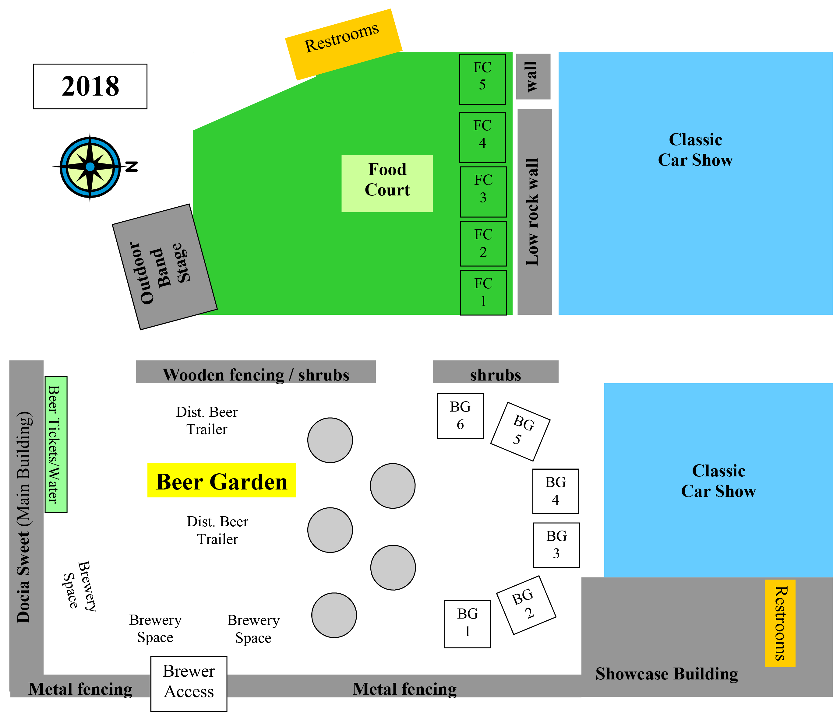 Curry Fairgrounds layout inside